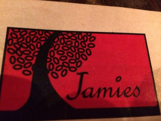 Jamies Restaurant: The logo on the street sign In case your looking for the place.