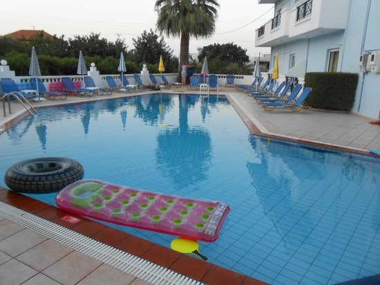 Athena Apartments: The Pool (evening)