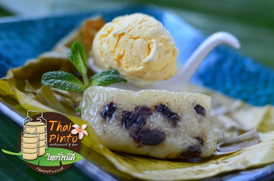 Thai Pinto restaurant: Khao Tom Mut & Vanilla ice cream