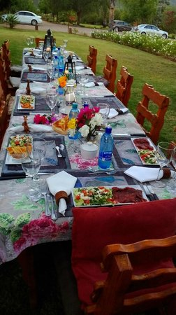 Montana Guest Farm: Abendessen im Garten