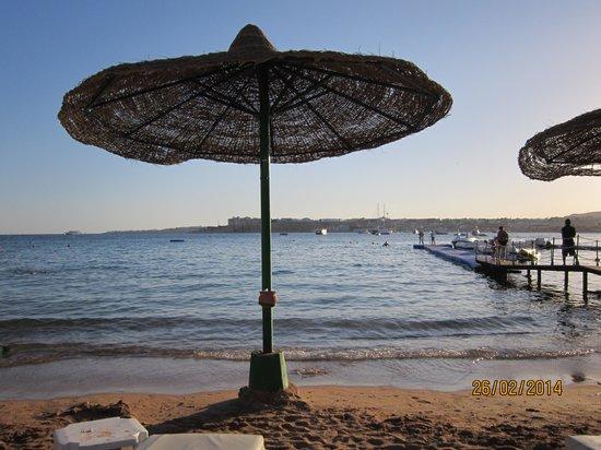 Beach Resort & Casino : пляж на закате