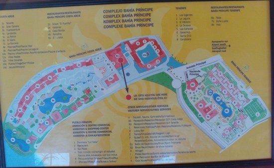 Map of grounds Picture of Sunlight Bahia Principe Costa Adeje