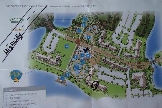 Marriott's Harbour Lake: Resort Map