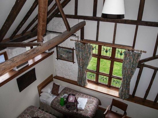 The Abbey Hotel: Looking down from the loft