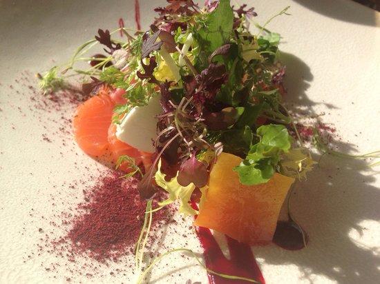 Restaurant Tristan : Salmon in the sunshine :)