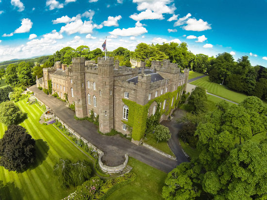 Perth, UK: Aerial View of Scone Palace
