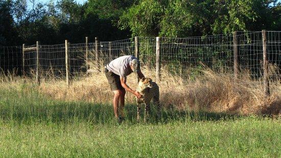 Emdoneni Cheetah project: ranger and friend