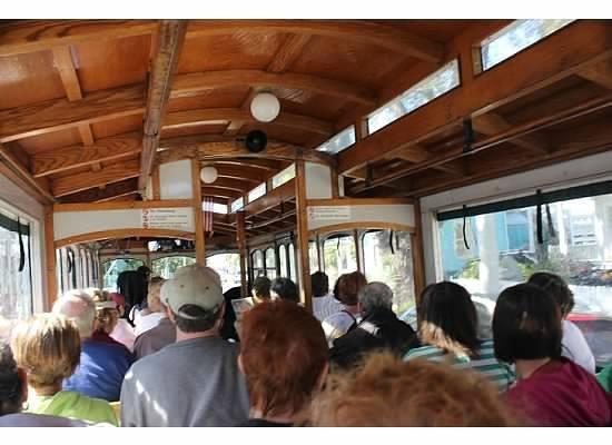 Old Town Trolley Tours Key West: inside of trolley
