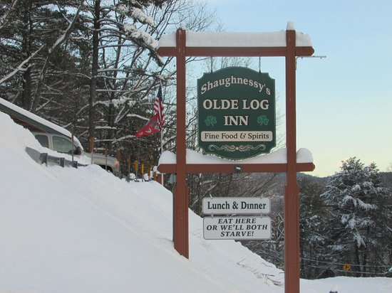Olde Log Inn: Always a welcome sight after a day of skiing
