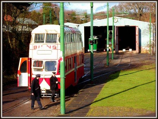 Beamish Museum: bus garage