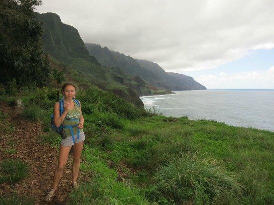 Kalalau Trail: on the trail