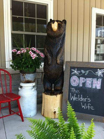 The Welder's Wife: This friendly bear will greet You