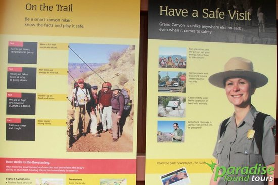 Paradise Found Tours : The Grand Canyon Visitor Center is packed with great interpretive displays.