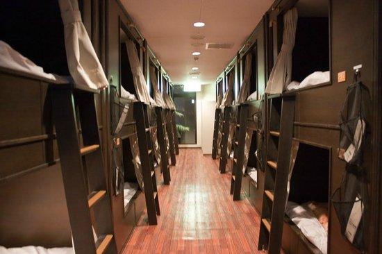 Resort Capsule Sakuragicho: Общий вид на отсеки/капсули.