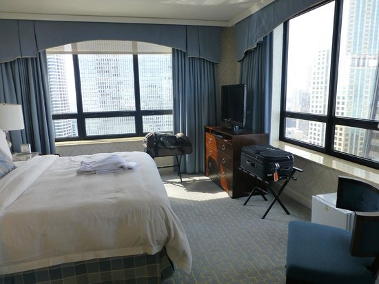 The Ritz-Carlton, Chicago: Our bedroom area with an incredible view