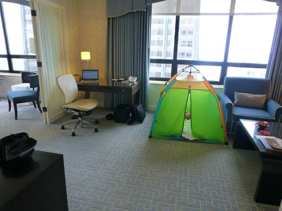 The Ritz-Carlton, Chicago : Our Suite with Children's Play Tent