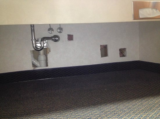 Baymont Inn & Suites Washington: Wall in sink area