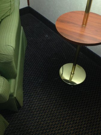 Baymont Inn & Suites Washington : Hard to see, but there are food crumbs ground into carpet