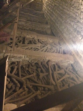 Iglesia y Convento de San Francisco : Ossadas nas catacumbas subterrâneas
