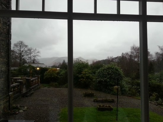 The Grange Country House: view from breakfast conservatory