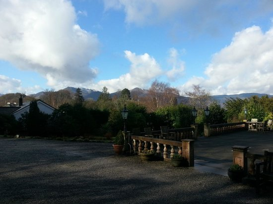 The Grange Country House: view from patio