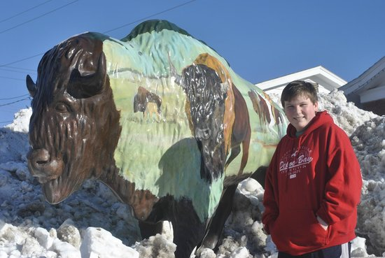 Rocket Motel : Rocket City Motel, their buffalo and our son:)