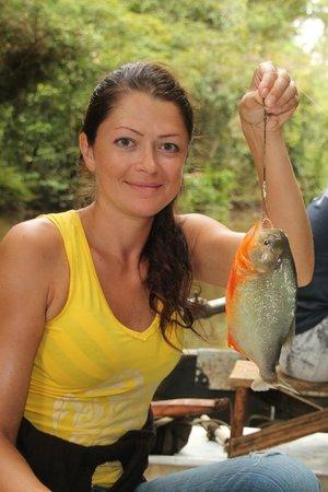 Reserva Natural Palmari: Поймала пиранью на ужин)))