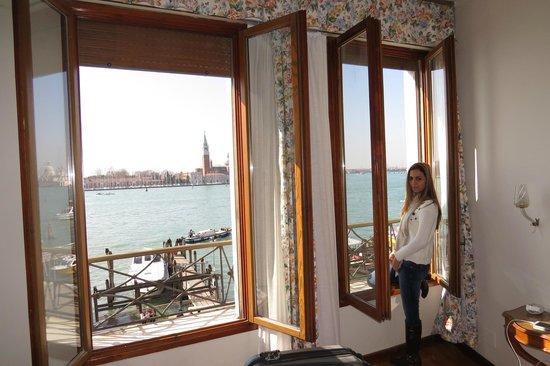 Hotel Gabrielli: as janelas voltadas para o grande Canal