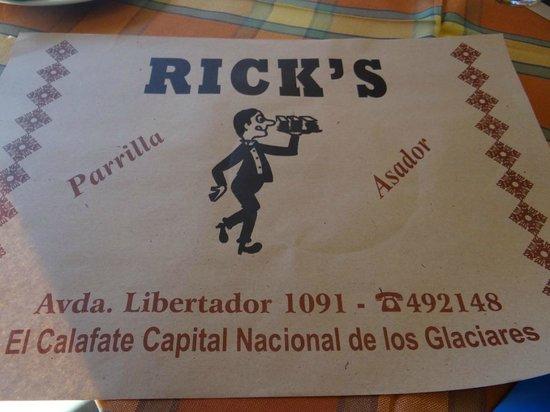 Rick's: no centrinho de Calafate: simples mas com boa comida.