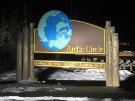 1st Alaska Tours: Arctic circle monument sign...