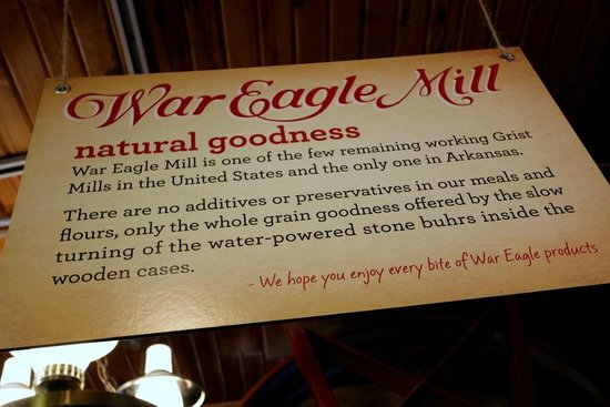 War Eagle Mill : Welcome Sign