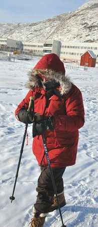 Polar Lodge: Hiking at minus 30 degrees C