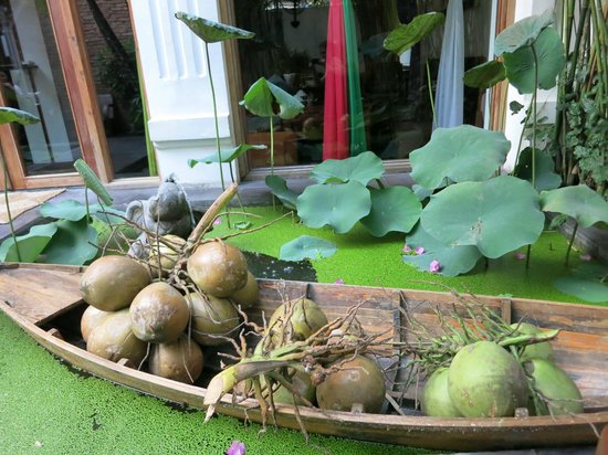 Hum Vegetarian, Café & Restaurant : Outside area