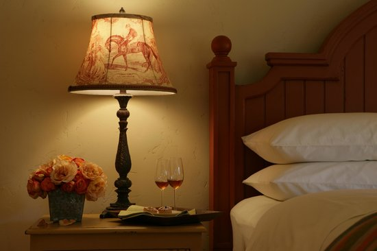 The Cottages of Napa Valley: a glass of wine before bed
