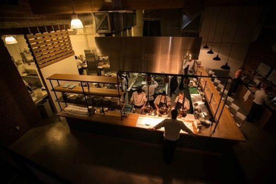 View Of The Kitchen Picture Of Agricola Street Brasserie
