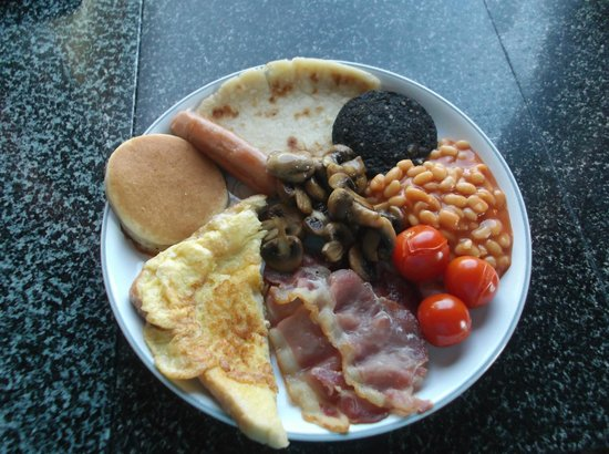 Mull of Galloway Holidays: Scottish Breakfast with Eggy Bread at East Muntloch Croft B & B