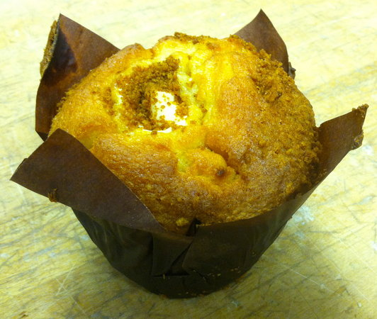 Huron Mountain Bakery: Peaches and Cream Muffin