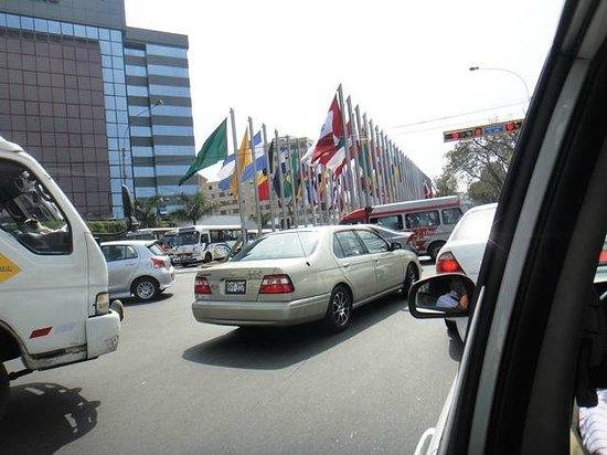 Melia Lima: entrada al hotel