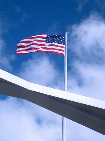 USS Arizona Memorial/World War II Valor in the Pacific National Monument: USS Arizona Memorial skyward