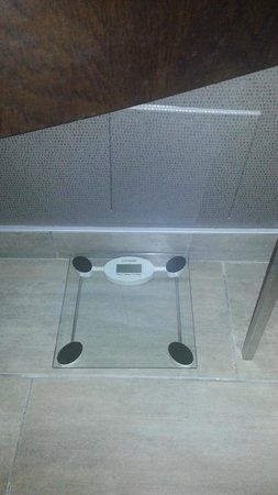 Acclaim Hotel Calgary Airport: The weigh scale.