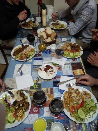 Mehmet and Ali Baba Kebab House : Enormous dinner all together