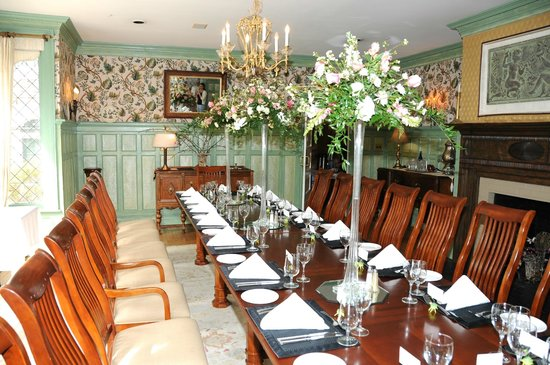 The Stables Restaurant at Rose Hill Estate: Dining room set for mother's 90th birthday party