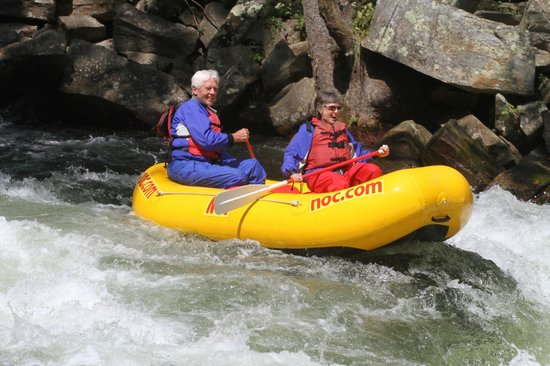 Nantahala Outdoor Center - Private Adventures : getting ready to ride the Falls