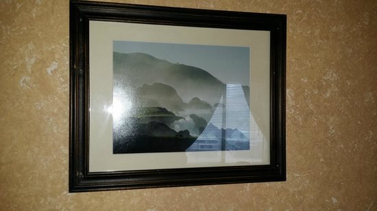 Lucia Lodge: Pictures screwed into the walls
