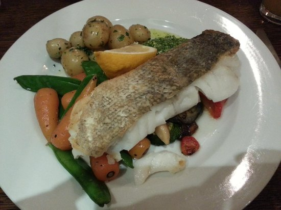 Hooked: cod on roasted Mediterranean veg
