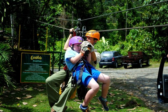 Ecoglide Arenal Park: He's scared, but he did all of it.