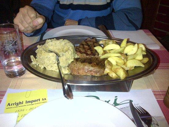 Grotto del Pep : Filetto di puledro con polenta e patate