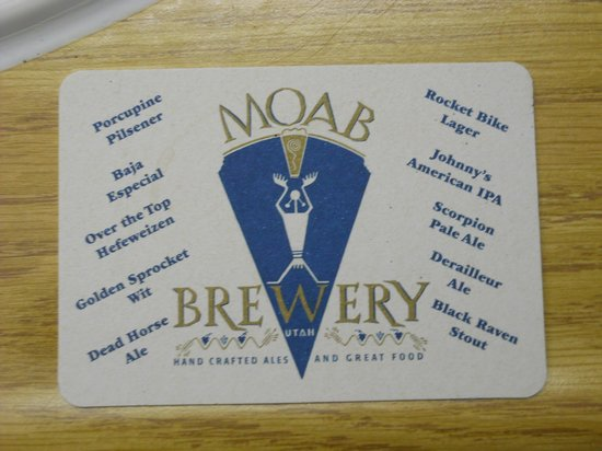 Moab Brewery: Beer selections