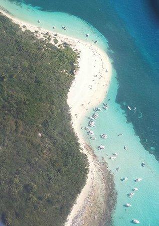 Villa Pelicano: View from the charter plane
