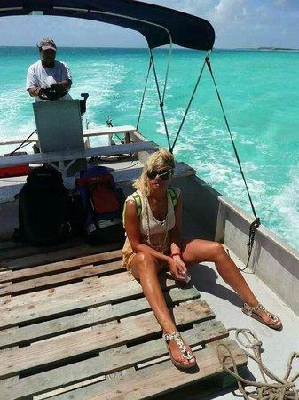 Relais Royal Tikehau: In barca
